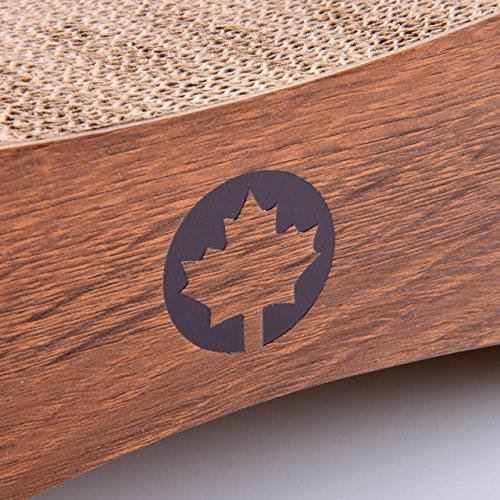 CanadianCat Company ® | XXL Orbit 2.0 Lounge | walnuß | Kratzmöbel, Kratzbrett | Qualitäts-Pappe +Katzenminze | 84 X 24 X 23cm - 6