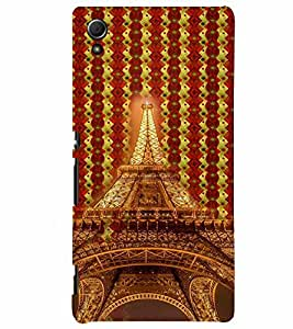 PrintVisa Travel Paris Eifel 3D Hard Polycarbonate Designer Back Case Cover for Sony Xperia Z4