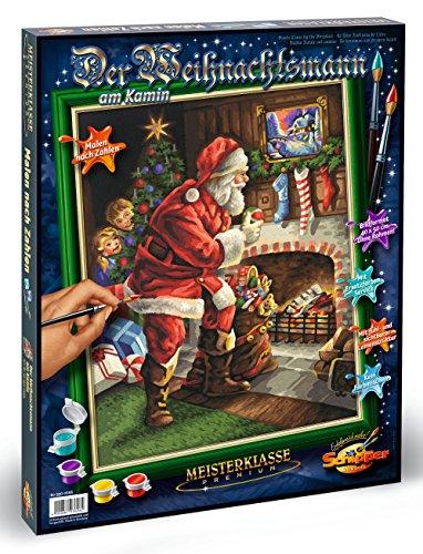 Schipper 609300696 - Malen nach Zahlen - Weihnachtsmann am Kamin, 40 x 50 cm -