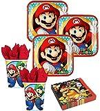 36 Teile Super Mario Party Deko Basis Set - für 8 Kinder