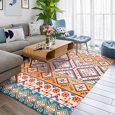 Mode Géométrie Home Rugs–Memorecool NEUF Motifs sans la décoloration Anti-slipping Style simple Table à thé de salon Tapis 99,1x 149,9cm, Polyester, Geometry7, 39x59inch