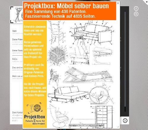 Möbel selber bauen: Deine Projektbox inkl. 436 Original-Patenten bringt Dich mit Spaß ans Ziel!