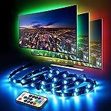 TV LED Posteriore di Illuminazione Kit, 2m 60 LED Strip Light Impermeabile IP65 RGB SMD5050 con Telecomando RF 17Keys 1m Cavo 5v Ridurre la Stanchezza di Occhi e Aumentare la Nitidezza delle Immagini