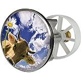Waschbeckenstöpsel Design Almglück | Abfluss-Stopfen aus Metall | Excenterstopfen 38 – 40 mm