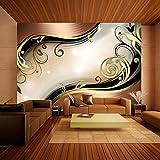 murando - Fototapete 300x210 cm - Vlies Tapete - Moderne Wanddeko - Design Tapete - Wandtapete - Wand Dekoration - Abstrakt Ornament gold braun schwarz violett a-A-0031-a-b
