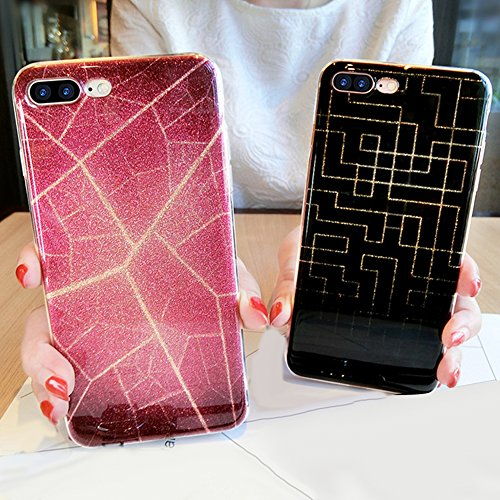 iPhone 6S Plus Hülle,iPhone 6 Plus Hülle,iPhone 6S Plus 360 Grad Hülle,SainCat TPU Silikon Hülle für iPhone 6 Plus/6S Plus [Thin Fit 360] Komplettschutz Front + Back Rundum Double Beidseitiger Schutzh Bunt