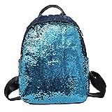 Schulrucksack Mädchen Rucksack Damen Schultaschen Schulrucksäcke Daypack Kapazität Männer Rucksack für WINWINTOM Mode Mädchen Pailletten Schultasche Rucksack Schulranzen Reise Umhängetasche (Blau)