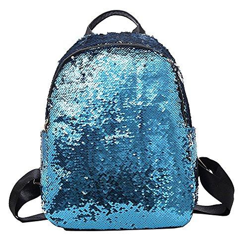 chen Pailletten Schultasche Rucksack Schultertasche Student Reisetasche Ungleiche Hand
