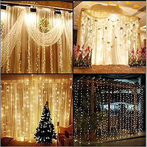 knonew LED String Lights – -300 LED Outdoor Indoor Window Curtain Icicle Lights