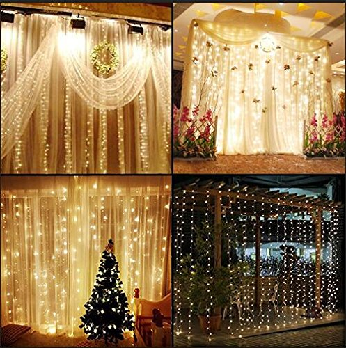 knonew-led-string-lights-300-led-outdoor-indoor-window-curtain-icicle-lights-fairy-string-light-for-