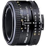 نيكون عدسة نيكور 50 مم 50mm 1.8G يمكن تغييرها لكاميرا نيكون - 2137