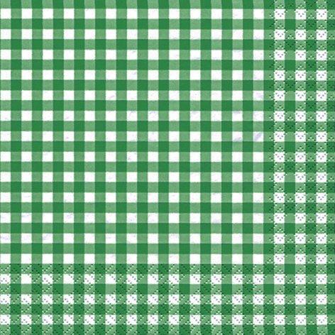 20 Servietten Karo dunkelgrün / kariert / zeitlos 33x33cm (Kariertes Papier Servietten)