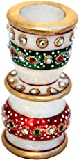 HANDICRAFTS Paradise Marble Candle Holder Meena Work