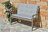 Bankauflage mit Sitz und Rückenteil 104 cm SUN GARDEN Rustico 50318-710 in grau ohne Bank