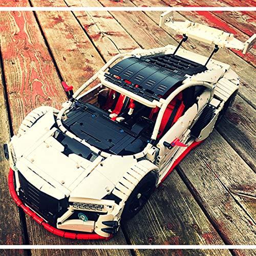 YxFlower 1879 Stück Custom Bausteine Modell - Japanischen Stil Sportwagen Modell mit Motor Für Moc Modellfahrzeuge Bausatz (Japanische Bausteine)