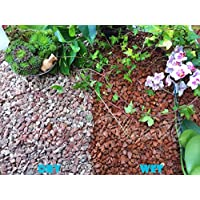 Trucioli di ghiaia pietra di ardesia Deter erbacce da giardino Patio Percorso Plant Top, in granito, Rosso (10–14mm), 10 kg