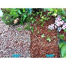 Virutas de grava piedra pizarra disuadir hierba jardín Patio Camino planta superior–rojo granito (10–14mm), 1 kg