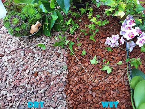 Trucioli di ghiaia pietra di ardesia Deter erbacce da giardino Patio Percorso Plant Top, in granito, Rosso (10-14mm), 1 kg