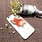 (Sleeping bear) Apple iPhone 6/6s Hülle/Case,Niedliches Cartoon Haustier Hund (Niedlich Waliser Corgi Pembroke) Telefon Schutzhülle Hülle, Elastisch Schutzhülle Dünn, Schlag-Absorptions-Stoßdämpfer, Anti-Kratzer, Weiche Glänzend Transparent TPU Cover + Handy-Lanyard.---Waliser Corgi Pembroke
