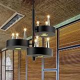 MSAJ-Office Restaurant moderne Bar Tisch rechteckig Cafe B¨¹geleisen einfach Leuchter Nordic Anh?nger rund 700*700/500mm , b