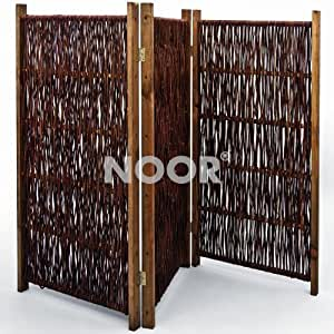 noor weiden paravent 150 x 180 cm 3teilig. Black Bedroom Furniture Sets. Home Design Ideas