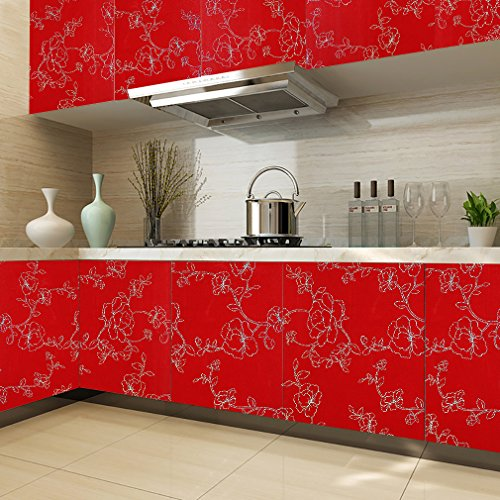 kinlo-adesivi-carta-061-5m2-rotoli-rinnovato-mobili-da-cucina-guardaroba-pvc-wall-paper-rosso-con-i-
