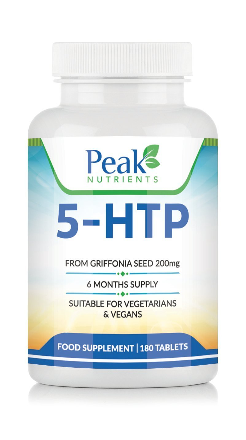61eTMlF%2BTNL - 5-HTP 200mg Double Strength 180 Tablets 6 Months Supply - Suitable for Vegetarians & Vegans - UK Manufactured Product - 5HTP Promotes Healthy Sleep and Restfulness and Increases Serotonin Levels