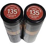 Revlon Super Lustrous Lipstick Creme, Chocolate Velvet 135, 0.15 Ounce (Pack of 2)