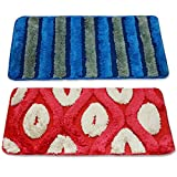 Story @ Home Set Of 2 Pcs Doormat Red an...