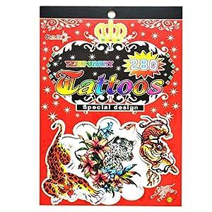 Gifts 4 All Occasions Limited SHATCHI-1009 No. 13 - Adhesivos para bolsas de fiesta (impermeables), diseño de tatuajes, multicolor