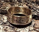 Coinring, Münzring, Ring aus Münze (50 Para Jugoslavien), Kupfer-Zinn - Double Sided coin ring - Größe 55 (17.5), handgeschmiedetes Unikat