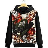 WANHONGYUE Attack on Titan Aot Anime Pullover Sudaderas con Capucha Cosplay Disfraz Hoodie Sweatshirt Outwear Abrigo Suéter