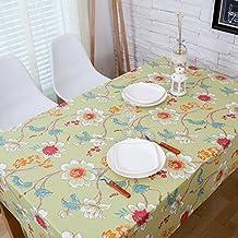 X&L Pastoral de tela Estampado de tela paño de tabla de té verde paño de tela de mesa para el hotel del banquete del partido en casa de picnic , 145*220cm