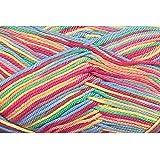 Grundl 861-188 50 g Cotton Quick Print Knitting Yarn Ball, Rainbow Multi-Colour
