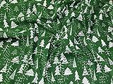 Weihnachten Bäume Print Polycotton Kleid Stoff, Meterware,