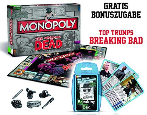 Preisvergleich Produktbild Winning Moves - Monopoly Walking Dead - Sonderedition mit Breaking Bad Top Trumps Quartettspiel