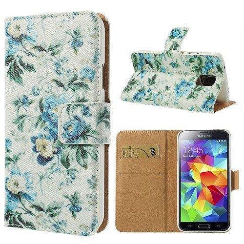 delightable24 Cover Protettiva Bookstyle Flip Case per SAMSUNG GALAXY S5 / S5 NEO Smartphone - Fresh Flowers Edition