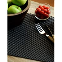 Freelance Vinyl Non Adhesive Anti Slip Skid Shelf & Drawer Cushion Grip Liner Kitchen & Dining Mat & Protector, Small, Black