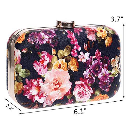 YYW Floral Clutch Bag, Poschette giorno donna 2