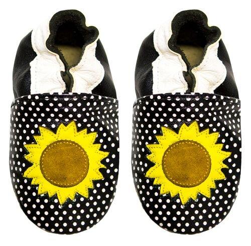 Rose & Chocolat Polka Sunflower, Chaussures Marche Bébé Fille