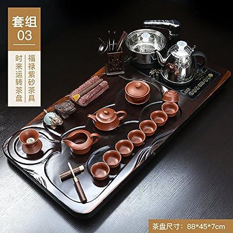 Kitoku automatique à thé en bois foncé Thé ROM Définit, 03