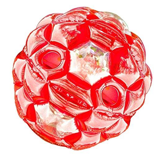 P Prettyia Zorbing Ball Kinder, Zorb Kugel aufblasbar, Bubble Roll Ball Rad, Spielzeug Zum Reinsteigen, 60/90 cm - Rot, 60cm