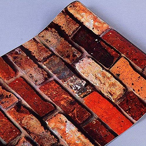 lovefaye Country rustikal Brick Regal Schublade Liner Ziegelsteinwand Kontakt Papier Coffee Shop Wand Aufkleber 45cm von 9.8Füße