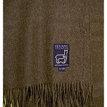 Elvang Luxury–Manta (lana de cría de alpaca, 140x 200cm, lana virgen (Babyalpaka), marrón oscuro, 130 cm x 200 cm