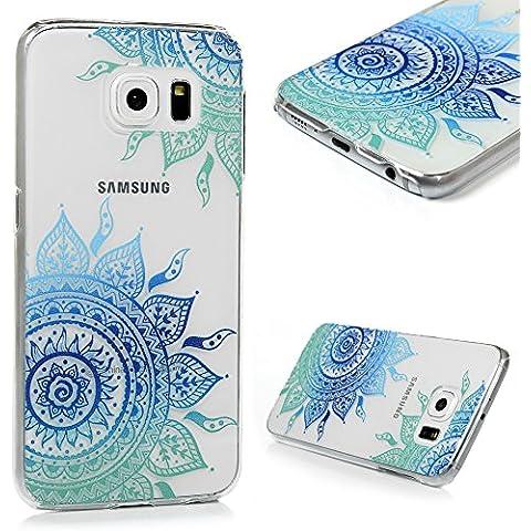 Samsung Galaxy S6 Funda - Lanveni® Chic Elegante Carcasa Rigida PC ultra Slim para Samsung Galaxy S6 Transparente Protective Back Case Cover - Patrón tótem Diseño