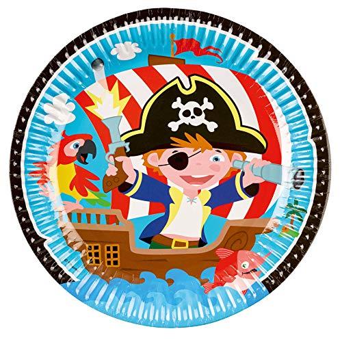 Kleine Piraten – Party Paket Kindergeburtstag Teller, Becher, Servietten, Postkarten - 2
