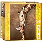 Eurographics Mo Puzzle Giraffe Mother's Kiss (500 Teile)