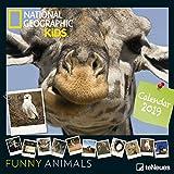 2019 Nat Geog Funny Anima 30x30 Grid Cal