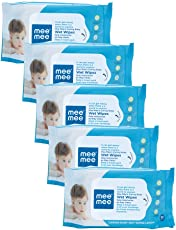 Mee Mee Caring Baby Wet Wipes with Lemon Fragrance - 30 pcs (Pack of 5)