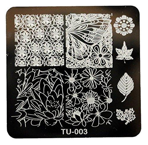Tongshi 1 PC Mode DIY polnischen Beauty Nail Art Bildstempels Stanzen Platten 3D Nail Art Vorlagen Schablonen Maniküre Tools (3)